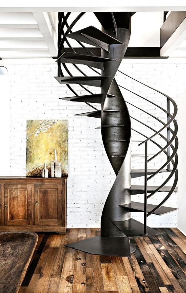 винтовая лестница лофт